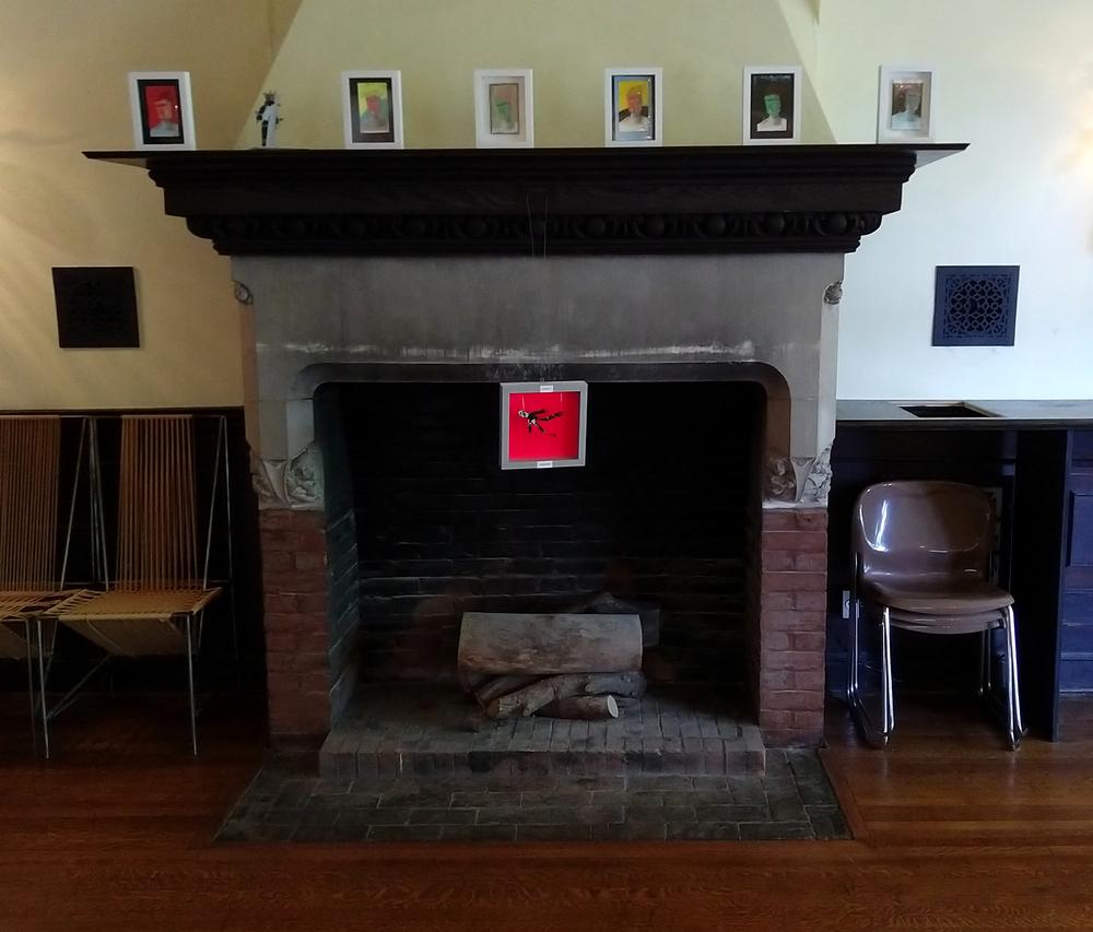 False Heads, Masks, and Robots by Fireplace