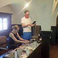 Melissa Grey & David Morneau Interact with Little Asia Installation 1
