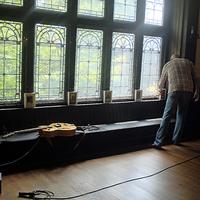 Dan Rose Setting Up Ballroom