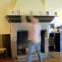 Dan Rose Setting Up Fireplace 1
